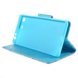 Crafty Peňaženkové puzdro pre Sony Xperia M5 - modrý slon - 4