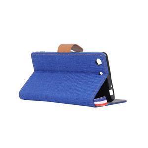 Jeans peňaženkové puzdro pre mobil Sony Xperia M5 - modré - 4