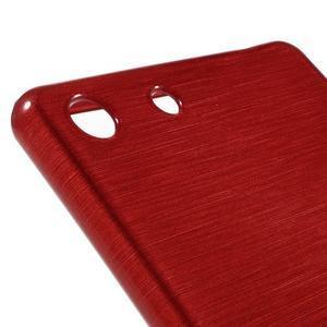 Brush gélový obal pre Sony Xperia M5 - červený - 4