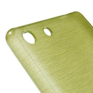 Brush gélový obal pre Sony Xperia M5 - zelený - 4
