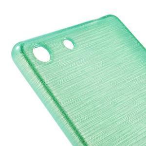 Brush gélový obal pre Sony Xperia M5 - cyan - 4