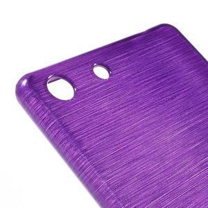 Brush gélový obal pre Sony Xperia M5 - fialový - 4