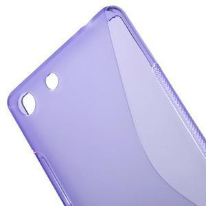 S-line gélový obal pre mobil Sony Xperia M5 - fialové - 4