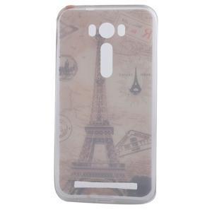 Softy gelový obal na mobil Asus Zenfone 2 Laser - Eiffelova věž - 4