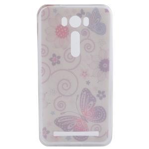 Softy gélový obal pre mobil Asus Zenfone 2 Laser - motýľek - 4