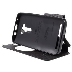 Peňaženkové puzdro s okienkom pre Asus Zenfone Selfie ZD551KL - čierné - 4