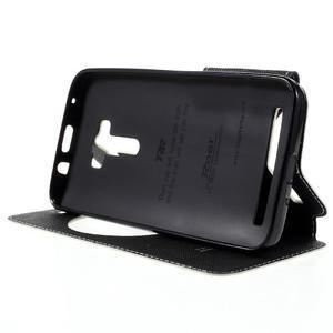 Peňaženkové puzdro s okýnkem na Asus Zenfone Selfie ZD551KL - biele - 4