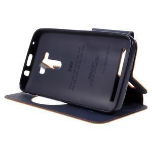 Peňaženkové puzdro s okýnkem na Asus Zenfone Selfie ZD551KL - oranžové - 4