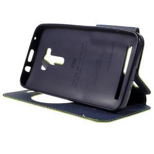 Peňaženkové puzdro s okýnkem na Asus Zenfone Selfie ZD551KL - zelené - 4