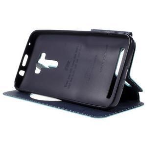 Peňaženkové puzdro s okýnkem na Asus Zenfone Selfie ZD551KL - svetlo modré - 4