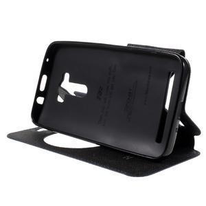 Peňaženkové puzdro s okýnkem na Asus Zenfone Selfie ZD551KL - tmavo modré - 4