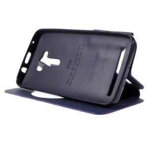 Peňaženkové puzdro s okýnkem na Asus Zenfone Selfie ZD551KL - fialové - 4