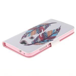 Peněženkové pouzdro pro mobil Honor 5X - barevná peříčka - 4