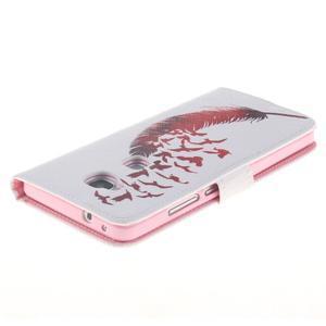 Peňaženkové puzdro pro mobil Honor 5X - vtačie pierko - 4