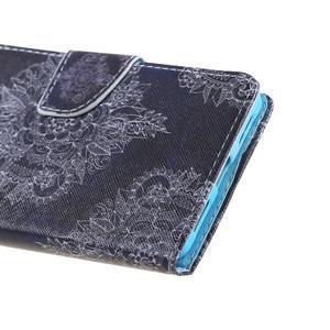 Knížkové puzdro pre mobil Honor 5X - retro krajka - 4