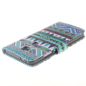 Peňaženkové puzdro pro mobil Honor 5X - geo tvary - 4