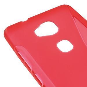 S-line gélový obal pre mobil Honor 5X - červený - 4