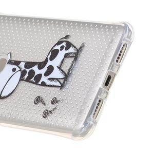 Transparentný gélový obal pre Honor 5X - žirafka - 4