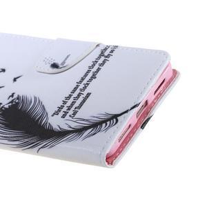 Knížkové pouzdro na mobil Honor 5X - ptačí peříčko - 4