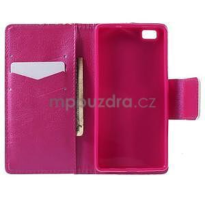 Peňaženkové PU kožené puzdro na Huawei Ascend P8 Lite - srdce - 4