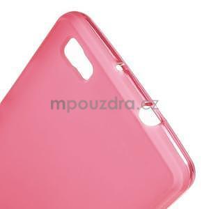 Červený matný gelový obal pro Huawei Ascend P8 Lite - 4