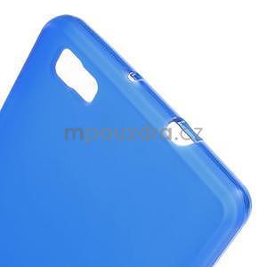 Modrý matný gelový obal pro Huawei Ascend P8 Lite - 4