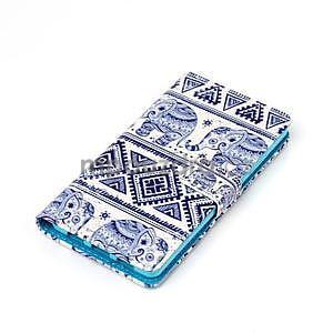 Zapínacie peňaženkové puzdro na Huawei Ascend P8 Lite - sloni - 4