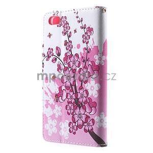 Peněženkové pouzdro Style pro Huawei Ascend P8 Lite - kvetoucí větvička - 4
