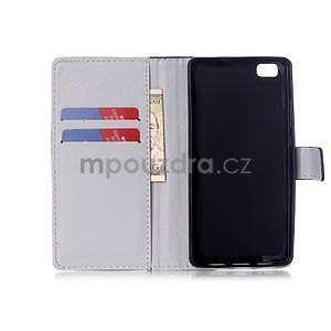 Zapínací peněženkové pouzdro na Huawei Ascend P8 Lite - nešahat - 4