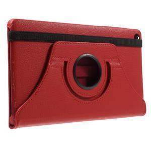 Otočné polohovateľné puzdro na Huawei MediaPad M2 - červené - 4