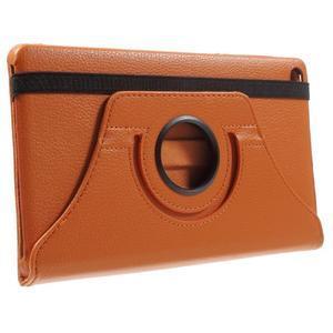 Otočné polohovatelné pouzdro na Huawei MediaPad M2 - oranžové - 4