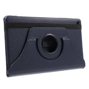 Otočné polohovatelné pouzdro na Huawei MediaPad M2 - tmavěmodré - 4