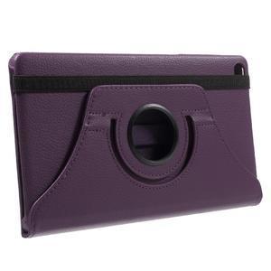 Otočné polohovateľné puzdro na Huawei MediaPad M2 - fialové - 4