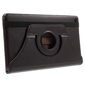 Otočné polohovateľné puzdro na Huawei MediaPad M2 - tmavohnedé - 4