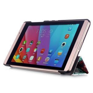 Třípolohové pouzdro na tablet Huawei MediaPad M2 8.0 - malovaný strom - 4