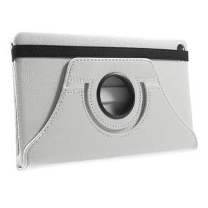 Otočné polohovatelné pouzdro na Huawei MediaPad M2 - bílé - 4