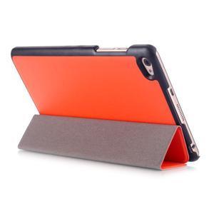 Trifold polohovateľné puzdro na tablet Huawei MediaPad M2 8.0 - oranžové - 4