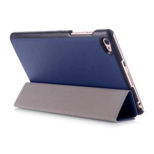 Trifold polohovateľné puzdro na tablet Huawei MediaPad M2 8.0 - tmavo modré - 4