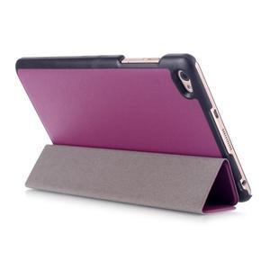 Trifold polohovateľné puzdro na tablet Huawei MediaPad M2 8.0 - fialové - 4