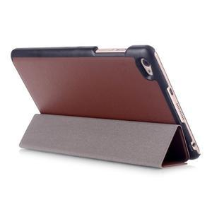 Trifold polohovateľné puzdro na tablet Huawei MediaPad M2 8.0 - hnedé - 4