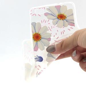 Transparentní gelový obal na Huawei P8 Lite - sedmikrásky - 4