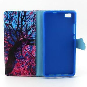 Emotive pouzdro na mobil Huawei P8 Lite - malovaný strom - 4