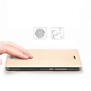 Vintage PU kožené pouzdro na Huawei P8 Lite - zlaté - 4