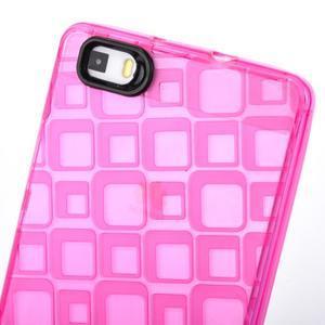 Square gelový obal na Huawei P8 Lite - rose - 4