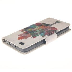 Leathy PU kožené pouzdro na Huawei P8 Lite - barevný strom - 4