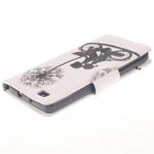 Leathy PU kožené puzdro na Huawei P8 Lite - láska na bicykli - 4