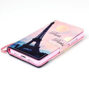 Picture PU kožené puzdro na Huawei P8 Lite - Eiffelova veža - 4