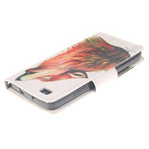 Leathy PU kožené pouzdro na Huawei P8 Lite - magický vlk - 4