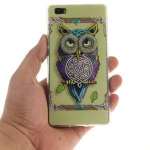 Flexi gelový obal na mobil Huawei P8 Lite - sova - 4