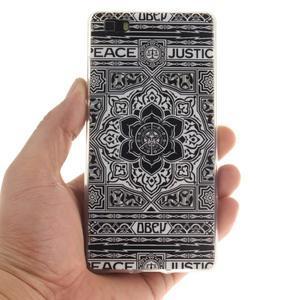 Flexi gelový obal na mobil Huawei P8 Lite - retro mandala - 4